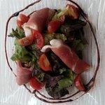salade jambon de pays aux chevres