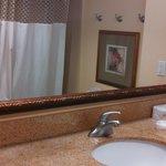 full vanity in bathroom