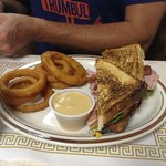 Chicken Club with Onion Rings