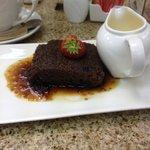 Sticky toffee pudding and custard