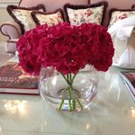 Beautiful fresh flowers - a lovely touch!