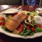 Cajun salmon salad!!