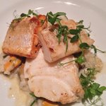 Seafood and risotto