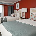 Waterfront room two double beds - Overlooking Cape Cod Bay