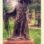 outdoor sculptures enhance the visit
