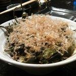 Shishito peppers w/tempura flakes!!!!! Yumm!!