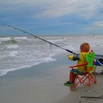 Young fisherman on Coligny Beach