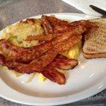 Eggs, bacon and potato hash