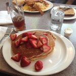 Pancakes and strawberries