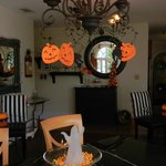 The Breakfast Room - decorated for Halloween