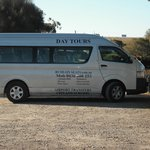 Our tour bus at McLaren Vale