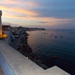 view from roof terrace toward Ischia town centre