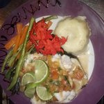 mmm!!! mayan style stuffed wt onions, tomatoes, sweetpeppers.. you got to try it...
