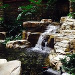 Atrium mini waterfall