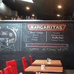 The draft beers and maragarita flavors
