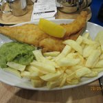 The Ocean Special Fish, Chips and Peas.