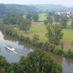 View of Neckar River from Bad Wimpfen town wall.