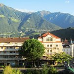 View from our Room, Dorf Tirol on the Mountainside