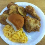 Fried Chicken, Mac & Cheese and Hand Breaded Fried Squash