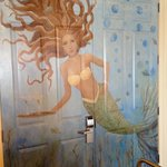 Beautiful Mermaid in the restaurant- well a painting!
