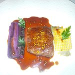 Wagyu beef main course