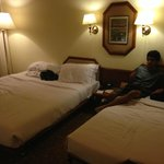 The room with One double bed and extra bed No 1