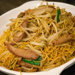 Cantonese noodles and bbq pork