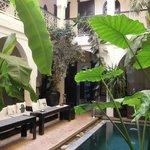 Riad Alboraq inner courtyard