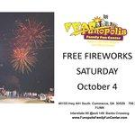 free fireworks Sat oct 4