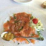Lachs mit Fenchel und Orangenvinaigrette