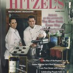 "Mike And Angela On The Front Of ""Hitzel's Restaurant Magazine"