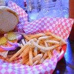Buffalo Burger Platter