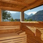 Salzano SPA - Altholz-Sauna mit Eigerblick