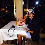 Marriott's roof bar view - in dinner <3