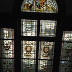 Fabulous Stained Glass Window within the Library....