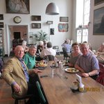 Lunch at Glamis Castle; Robert on the left
