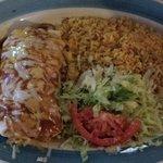 Wet burrito platter (Chicken)