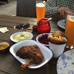 BarBQ Duck with Slaw and Potatoes