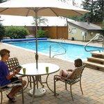 Outdoor pool in summer
