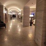 Hotel lobby and hallways