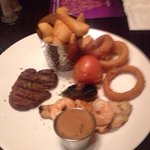 Most expensive on the menu disgrace surf an turf