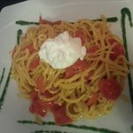 Spaghetti con burrata