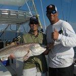 Todd's 28-lb. bull red fish.