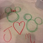Drawing on the table cloth