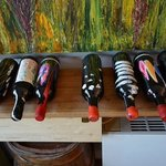 gorgeous hand painted wine bottles.