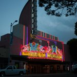 The Fremont Theater at Dusk