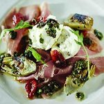 Buffalo Mozzarella and prosciutto salad