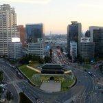 Namdaemun Gate from the 16th floor Panorama Bar