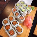 Lunch special - 6 rolls of spicy salmon, 3 rolls of salmon and 6 rolls of crab, avocado and cucu