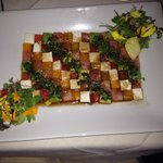 Mosaic salad, edible art
